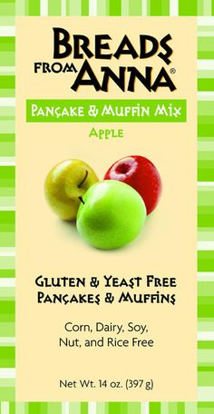 Breads from Anna — Gluten and Yeast Free Apple Pancake & Muffin Mix. Corn, Dairy, Soy, Nut and Rice free too!