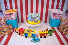 Dumbo birthday party dessert table! See more party planning ideas at CatchMyParty.com!