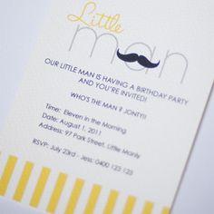 Invite Idea:  Our little Lady (purse) and Our Little Man's (mustache) Lemonade Stand