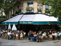Famous Cafe Les Deux Magots on the Left Bank of the Sein in Paris.. amazing hot chocolate