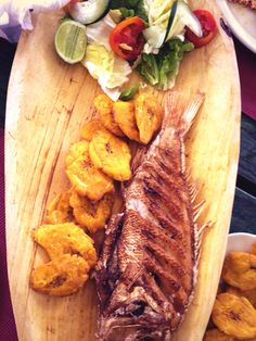 Fresh fish with an ocean view - Las Terrenas, Dominican Republic - Food