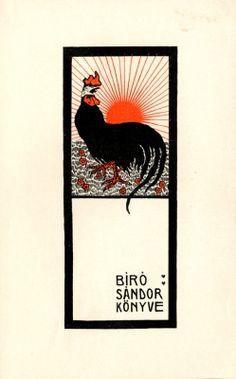Ex libris - Bíró Sándor | Rozsnyay, Kálmán (1871-1948), 1900-1905