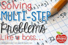 """Solving multi-step word problems like a BOSS! Teach your kids how to """"dig"""" into the question and make sure they follow all the way through to the answer. FREEBIES included."""