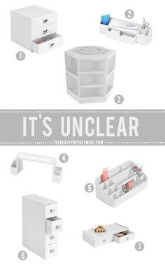 white bathroom beauty storage ideas