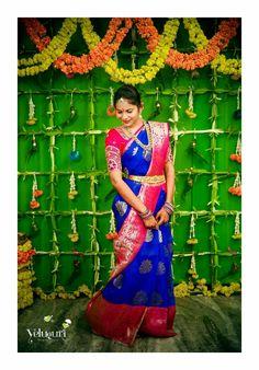 Bridal Sarees South Indian, Indian Bridal, Indian Sarees, Silk Sarees, Marriage Decoration, Wedding Stage Decorations, Saree Collection, Bridal Collection, Bridal Looks