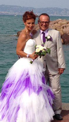 Robe de mariée commandée sur devis.