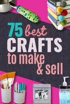 75 Crafts to Make and Sell For Extra Money Crafts To Make And Sell Easy, Sell Diy, Easy Diy Crafts, Diy Crafts For Kids, Kids Diy, Decor Crafts, Craft Ideas, 31 Ideas, Fun Crafts