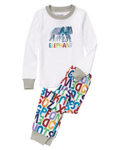 NWT Gymboree World Of Eric Carle FOX Snug Fit L//S 2 Piece Pajamas Gymmies