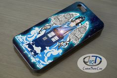 Doctor Who The Angel Tardis iPhone, iPad, Samsung Galaxy & HTC One Cases