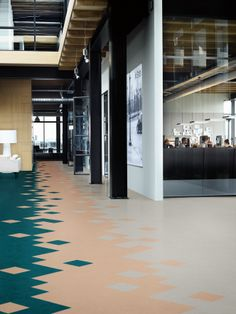 introducing marmoleum modular a naturally sustainable tile collection comprised of 44 beautiful colors and 3 flooring ideasvct - Vct Pattern Ideas