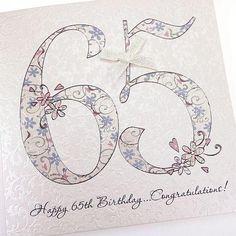 Handmade Beautiful Chic 65th Birthday Card