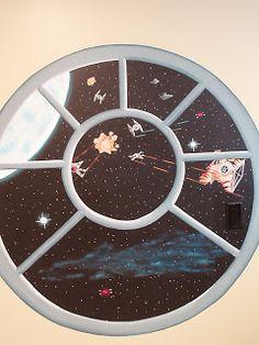 Painted Mural:  Star Wars Bedroom - Ideas for Angelo's Bedroom