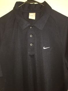 NIKE Polo Shirt Men's Extra Large XL Blue Polyester Golf Athletic Free Shipping #Nike #PoloRugby