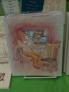 Will Dinski's Intimacy Test at SPX 2014 All of his books and prints were very beautiful! willdinski.com #SPX #SmallPressExpo #SPX2014 #IndieComics #Comics #IndependentPress #MicroPress #BookArts #Art #Illustration #WillDinski #BookArts