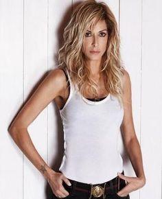 Anna Vissi Superstar, Basic Tank Top, Anna, Tank Tops, Singers, Greek, Hair, Artists, Women
