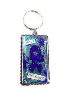 Purple Awareness Ribbon Keychain by jewel4u on Etsy, $12.00