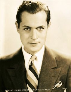 Actor Robert Montgomery, father of Elizabeth, Robert Montgomery, Elizabeth Montgomery, Classic Movie Stars, Classic Films, Old Hollywood Movies, Classic Hollywood, Humphrey Bogart, Man In Love, Great Movies