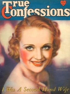 Carole Lombard on the cover of True Confessions magazine