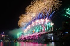 Photo about World Renown Sydney Harbour NYE Fireworks Display. Image of australia, burst, celebration - 22632353 Sydney New Years Eve, New Years Eve Fireworks, City Of Adelaide, Sydney News, 7 Places, Fire Works, Free Art Prints, Water Reflections, Nouvel An