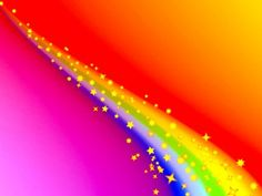 Rainbow line with stars PPT Backgrounds