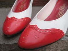 Vintage Red Leather Heels