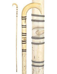 Whalebone Nautical Cane-Ca. 1865