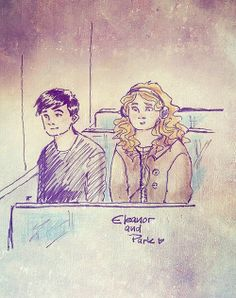 nowhere-soul-sketches: Sketch of Eleanor and Park by Rainbow Rowell :) What a beautiful novel of adorable characters. I cried so much it scared me. Book Tv, Book Nerd, Eleanor And Park, Rainbow Rowell, Lunar Chronicles, Fan Art, The Fault In Our Stars, Doodle Drawings, Book Fandoms