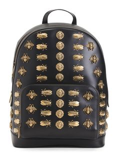 online shopping for GUCCI Animal Studs Leather Backpack from top store. See new offer for GUCCI Animal Studs Leather Backpack Studded Backpack, Black Leather Backpack, Backpack Straps, Backpack Bags, Tote Bags, Leather Bag, Backpack Online, Men's Bags, Leather Handle