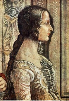 Domenico Ghirlandaio.  Detail from The Birth of Mary. c.1485-1490