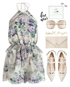 SPOTLIGHT: Zimmermann Lucia Embroidered Playsuit by goldiloxx on Polyvore featuring moda, Zimmermann, Valentino, John Lewis, Charlotte Russe and Chloé