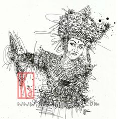 """Check out my @Behance project: """"Balinese Dancer"""" https://www.behance.net/gallery/37704821/Balinese-Dancer"""