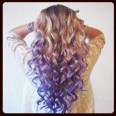 dirty blonde hair purple dip dyed - Google Search