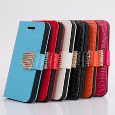 Free gift bling iphone 4 flip case bling iphone 5s by Walletcase, $15.00