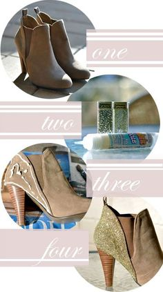 Update a pair of ankle boots. | 43 DIY Ways To Add Some Much-Needed Sparkle To Your Life