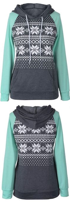 """Hot Sale at $22.99! If you haven't notice snow printing and drawstring hoodie design are super hot trendy and we are totally on board! Hit more heated pieces at <a href=""""http://Cupshe.com"""" rel=""""nofollow"""" target=""""_blank"""">Cupshe.com</a> !"""
