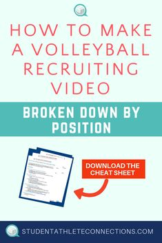 Position-specific tips for filming and editing your volleyball highlight video, with key tips for connecting your video link to coaches. Coach K, First Contact, Spawn, Cheat Sheets, Volleyball, Create Yourself, Athlete, Highlights, Pdf
