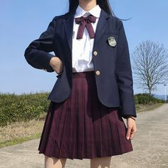 Korean Outfits School, School Uniform Outfits, Cute School Uniforms, Girls Uniforms, Korean Uniform School, School Girl Dress, School Dresses, Girl Outfits, Cute Outfits