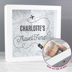 Travel Fund, Travel Box, Best Friend Birthday Cards, 21st Birthday Cards, Personalised Money Box, Personalized Birthday Cards, Unique Gifts For Sister, Savings Box, Engraved Gifts