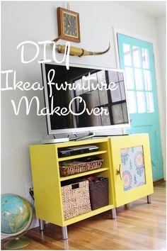DIY: making over my Ikea entertainment center