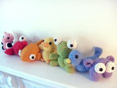 Crochet PATTERN ebook : Rainbow Amigurumi -pdf