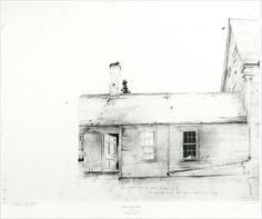 """Andrew Wyeth, """"New England"""" a drawing/study"""