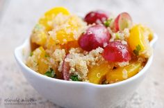 #Quinoa pairs great with fruit! Make a delicious Quinoa and Spring Fruit Salad lightly dressed with white balsamic vinegar.