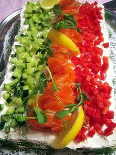 Rippijuhlatarjoilut – Hellapoliisi Sandwiches, Sandwich Cake, Creme Fraiche, Sour Cream, Good Food, Fun Food, Salsa, Food And Drink, Mexican