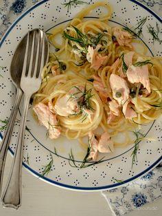 10-Minuten-Zitronen-Lachs-Pasta nach Donna Hay - Stilettos & Sprouts