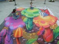 Sidewalk art - awesome!