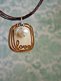 Circled Love Necklace - Laser cut  by BlissfulCreationsSLS