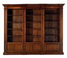 Biblioteca clásica / de madera - M 20022 - GUADARTE Wall Bookshelves, Bookcase, Book Stands, Cozy Room, Home Staging, Rustic Furniture, Woodworking Projects, Tall Cabinet Storage, Living Room Decor