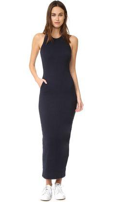 JAMES PERSE Sleeveless Pocket Maxi Dress. #jamesperse #cloth #dress #top #shirt #sweater #skirt #beachwear #activewear