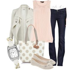Timex and Polka Dots / Polyvore