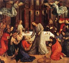 JOOS van Wassenhove (active c.1460-80)   Click! The Institution of the Eucharist  1473-75 Oil on wood, 331 x 335 cm Galleria Nazionale delle Marche, Urbino  The most important and most perfect work of Joos van Wassenhove (Justus of Ghent) by far is The Institution of the Eucharist (The Communion of the Apostles), painted for the high altar of the Brotherhood of Corpus Domini. The picture was based on a painting by Fra Angelico that Justus may have seen at St Mark's convent in Florence, in…